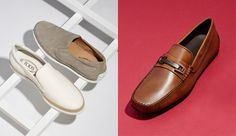 Tod's Espadrille Sneakers and Leather Drivers.