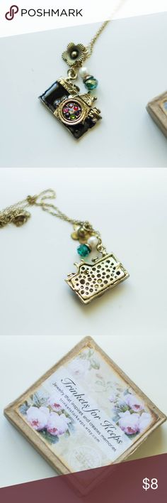 NWT Trinkets For Keeps Camera Necklace pretty details. Trinkets For Keeps Jewelry Necklaces