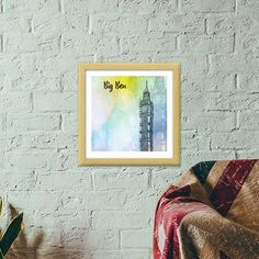There might be a small signature from the artist. Study Office, Home Office, Big Ben London, Wooden Frames, Dj, Living Room, Creative, Artist, Home Decor