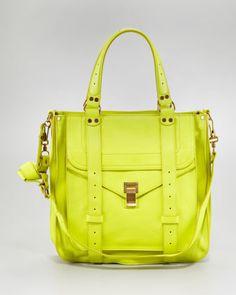 Proenza Schouler PS1 Leather Tote Bag, Citron - Neiman Marcus
