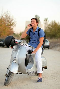Pick me up on your vespa!