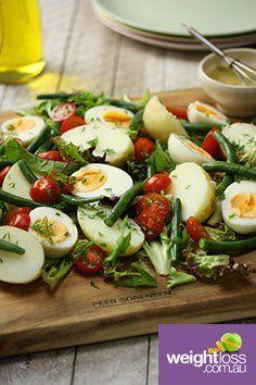 Green Bean Egg & Potato Salad. #HealthyRecipes #DietRecipes #WeightLossRecipes weightloss.com.au
