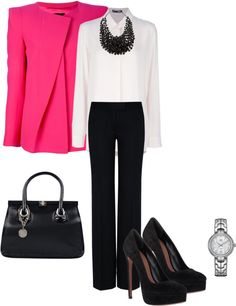 """""""A touch of Pink"""" by pollydickson ❤ liked on Polyvore"""