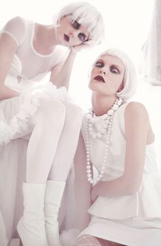 "Brianna Smith and Maddie Jones in ""Fallen Angel"" by Kirsten Micolli for Ben Trovato, October 2012."