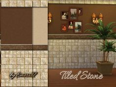 The Sims Resource: Tiled Stone wall by Emerald • Sims 4 Downloads