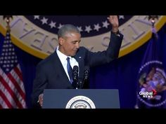 """Obama out:"" President Barack Obama's hilarious final White House correspondents' dinner speech - YouTube"