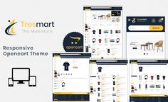 Tresmart - The Shopping Mall OpenCart Template it is a simple and clean layout with elegant design, it's easy to install and use. No HTML knowledge requires, Ecommerce Website Design, Website Design Layout, Website Design Inspiration, Web Layout, Layout Design, Design Ideas, Learn Web Design, Creative Web Design, Best Website Templates