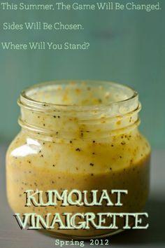 food + words » kumquat poppyseed vinaigrette -- Get orange champagne vinegar from Trader Joes!