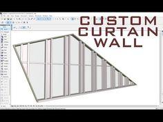 (8) Custom Curtain Wall ArchiCAD - YouTube