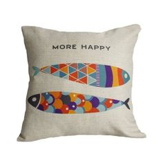 Amazon.com: Sunlightsell Stylish Simplicity Mediterranean style Cotton Linen Square Decorative Fashion Throw Pillow Case Cushion Cover (B13): Home & Kitchen