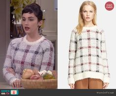 Mandy's checked sweater on Last Man Standing.  Outfit Details: http://wornontv.net/43980/ #LastManStanding