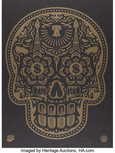 Ernesto Yerena Freddie Roach Wild Card Boxing Club Calavera Print Poster S/N 2015 art obey giant signed numbered limited edition for sale buy purchase Shepard Fairey Prints, Shepard Fairey Obey, Illustration Photo, Illustrations, Graphic Illustration, Stencil Printing, Screen Printing, Stencil Art, Art Nouveau