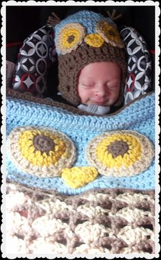 Crochet Woodland Owl Stroller/Carseat Blanket and by kyoticrafts, $50.00