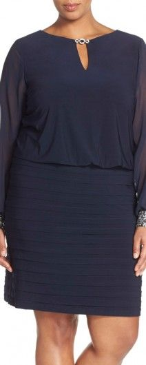 NAvy Blue Plus size Mother of the Bride Dresses
