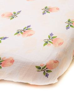 Cotton Muslin Fitted Crib Sheet in Watercolor Rose fits standard x x mattress. Lightweight and breathable, the Little Unicorn crib sheet gets softer with each wash. Original prints to fit your unique style. Nursery Rugs, Nursery Bedding, Girl Nursery, Royal Nursery, Chic Nursery, Nursery Art, Muslin Fabric, Cotton Muslin, Fashion Design For Kids