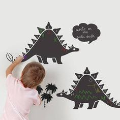 Chalkboard Alphabet Dinosaur Wall Stickers