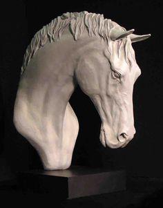 Dressage thoroughbred horse_ bronze sculpture by Hannah Shergold