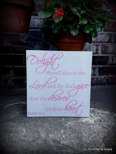 Delight in the Lord wooden sign 12x12 by ParLaGrace on Etsy