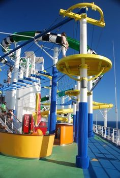 The Carnival Sunshine's SportSquare is popular with guests