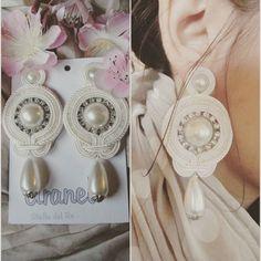 Purezza del bianco #soutachemania#soutache#orecchini#earringsoftheday#earrings#white#strass#pearl#whitepearls#fattoamano#handmadejewelry#handmade#handmadewithlove#amore#italianjewelry#outfit#eleganza#elegance
