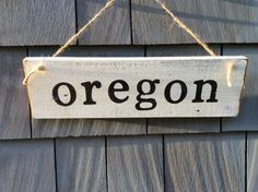 Oregon Rustic Sign by HomesteadDesign on Etsy