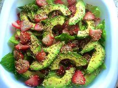 Sí: Ensalada de aguacate con lechuga y fresas