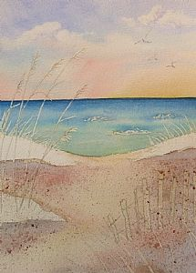 Take Me to the Beach | Step By Step Watercolor