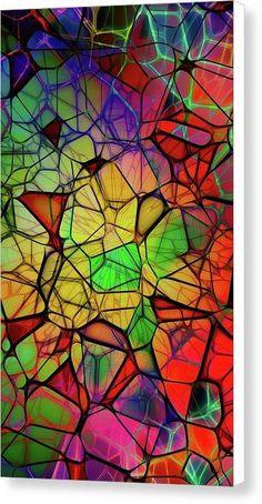 Prism Fractals - Canvas Print - 11.250 x 20.000 / White / Matte