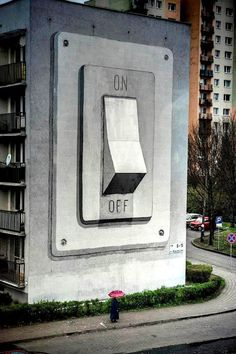 Giant On/Off Switch Mural