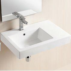 Caracalla Caracalla Ceramica II Wall Mounted Bathroom Sink - For Downstairs bath
