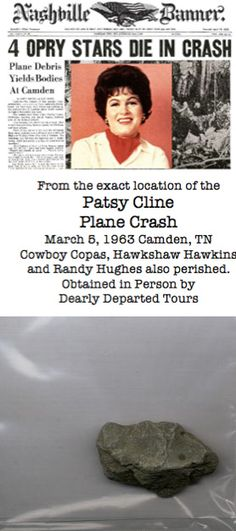 Patsy Cline Plane Crash Body The Death of Patsy Cli...