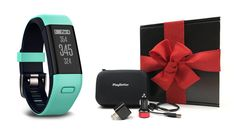 Garmin Approach X40 (Frost Blue) Gift Box Bundle   Includes Golf GPS/Fitness Band, PlayBetter USB Car and Wall Charging Adapters, Protective Hard Carrying Case   Black Gift Box and Red Bow ** This is an Amazon Affiliate link. More info could be found at the image url.