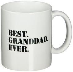 3dRose mug_151506_1 Best Granddad Ever Grandad Gifts for Grandfathers Fun Humorous Family Love Humor Black Text Ceramic Mug, 11-Ounce * More info could be found at the image url.