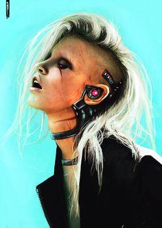 Cyberpunk Character Concept Art Female By Estookin Andreen Cyberpunk 2077, Cyberpunk Girl, Arte Cyberpunk, Cyberpunk Fashion, Gothic Fashion, Cyberpunk Tattoo, Fantasy Anime, Fantasy Art, Subcultura Punk