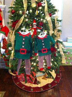 Jack (our elf on the shelf) arrived this morning with elf pjs for the boys!!!