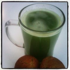Supa Green Juice (Zucchini, Kale, Apple,Carrot) and Zucchini Carrot Apple Coconut Muffins - @riasweetraw- #webstagram