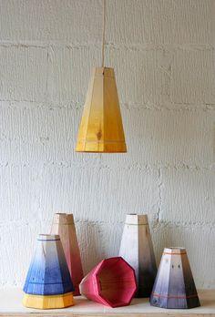 Yellow Pendant Lamp Shade Handmade in Recycled by FactoryTwentyOne, £39.99