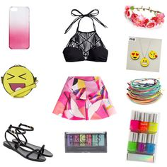 summer happy by alexia7528 on Polyvore featuring polyvore fashion style Mikoh Kenzo Ted Baker Topshop J.Crew Boohoo