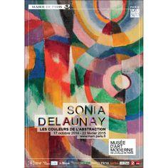 Exposition Sonia Delaunay : les couleurs de l'abstraction du 17 octobre 2014 au 22 février 2015 au musée d'art moderne de la ville de Paris.