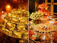 Casamento decor laranja e dourado