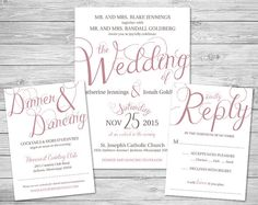 Lavender Purple Script Formal Wedding Invitation Suite - starting at just $50!
