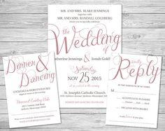 Lavender Purple Script Formal Wedding Invitation Suite - starting at just $50!