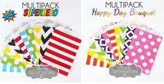 Designer Multipack Paper Bags – 5x7 & Pleated   Jane
