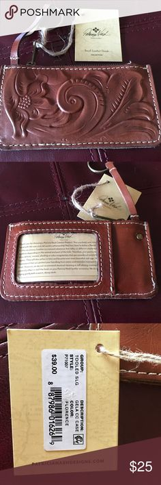 Patricia Nash coin purse with keychain Beautiful hand tooled leather. Patricia Nash Accessories Key & Card Holders