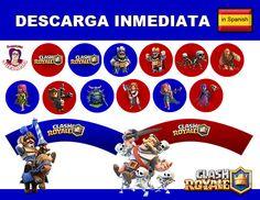 CLASH ROYALE kit de Fiesta Imprimible en Español Descarga