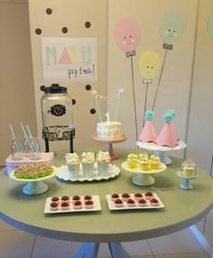 1st Birthday Foods, 2nd Birthday Party Themes, Girl First Birthday, First Birthday Parties, First Birthdays, Festa Party, Baby Party, Birthday Party Decorations, Party Time