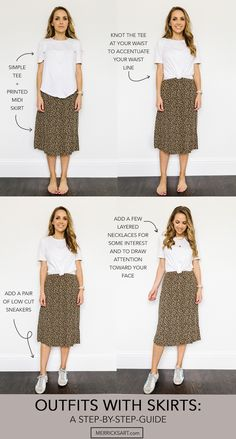 Summer outfits with skirts: a step by step guide Modest Outfits, Modest Fashion, Fall Outfits, Casual Outfits, Cute Outfits, Fashion Outfits, Casual Teacher Outfit, Summer Teacher Outfits, Layering Outfits