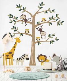 Wonderful Photographs Safari Tree with Cute Animals, Safari Themed Nursery Wall Decal, Safari Tree Wall Decal, Nursery Decor, Safari Animals Decal Set Style Got kids ? Then you definitely realize that their stuff winds up actually throughout the home! Safari Theme Nursery, Animal Nursery, Nursery Themes, Themed Nursery, Safari Thema, Baby Boy Rooms, Babies Nursery, Baby Giraffe Nursery, Nursery Wall Decals