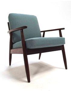 Vintage Light Blue Armchair