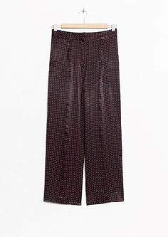& Other Stories | Creased Trousers in Burgundy